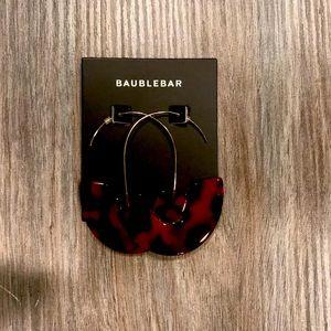 Baublebar earrings. Tortoise shell on wire